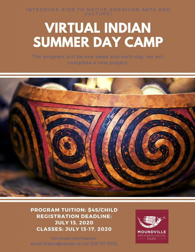 Virtual Indian Summer Day Camp Registration Deadline is July 13, 2020.